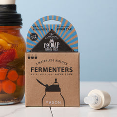 reCap Mason Jar Fermenters 3 Pack in Box