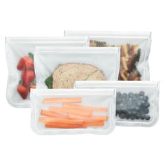 (re)zip Lay Flat Lunch & Snack Bag Kit Clear Reusable Zero Waste All Things Being Eco