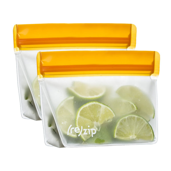 re(zip) Zero Waste 1 Cup Stand Up Storage Bag (2 Pack) Orange