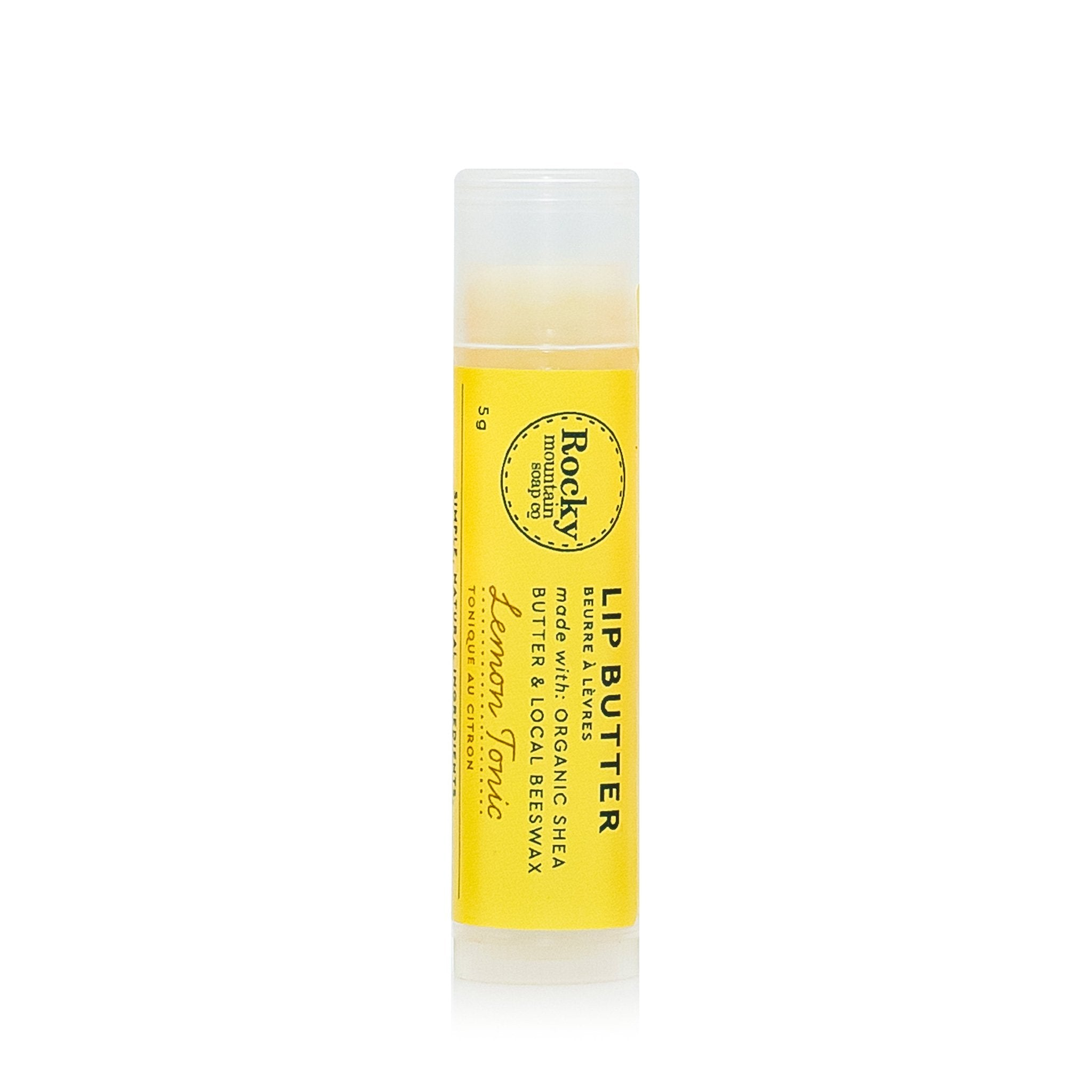 Rocky Mountain Soap Company - Lemon Tonic Lip Butter Canadian Made Lip Care All Things Being Eco