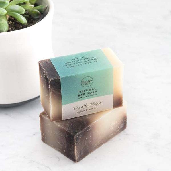 Rocky Mountain Soap Company - Vanilla Mint Soap All Things Being Eco Chilliwack Vegan Bar Soaps