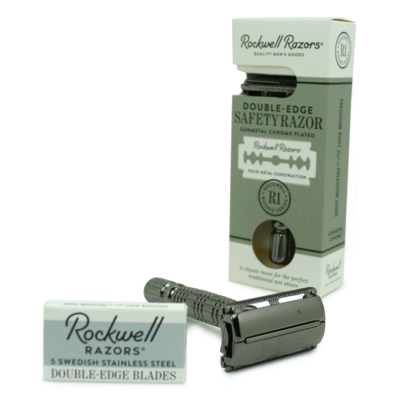 Rockwell Razors - R1 Rookie Series Double-Edge Safety Razor Gunmetal