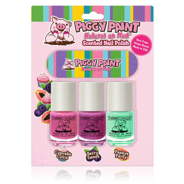 Piggy Paint - Scented 3 Pack With Nail File