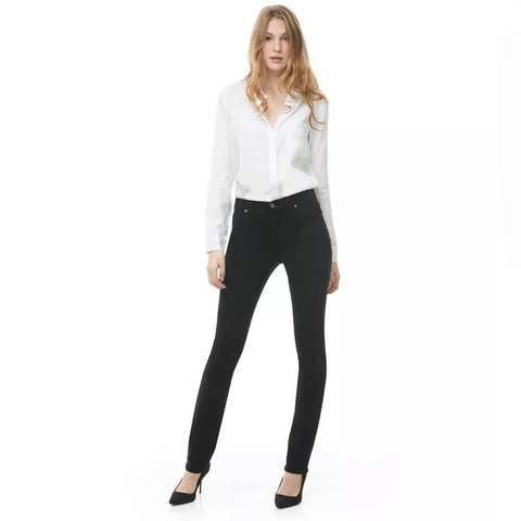 Second Yoga Jeans - Classic Rise Chloe Slim Jeans in Pitch Black