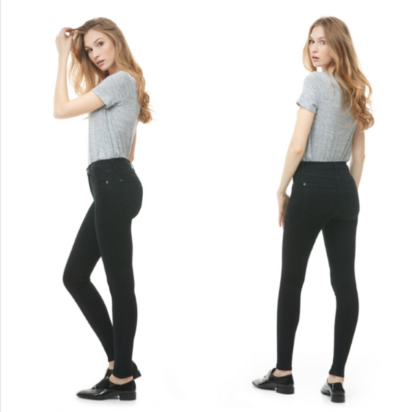 Second Yoga Jeans - Classic Rise Rachel Skinny in Pitch Black
