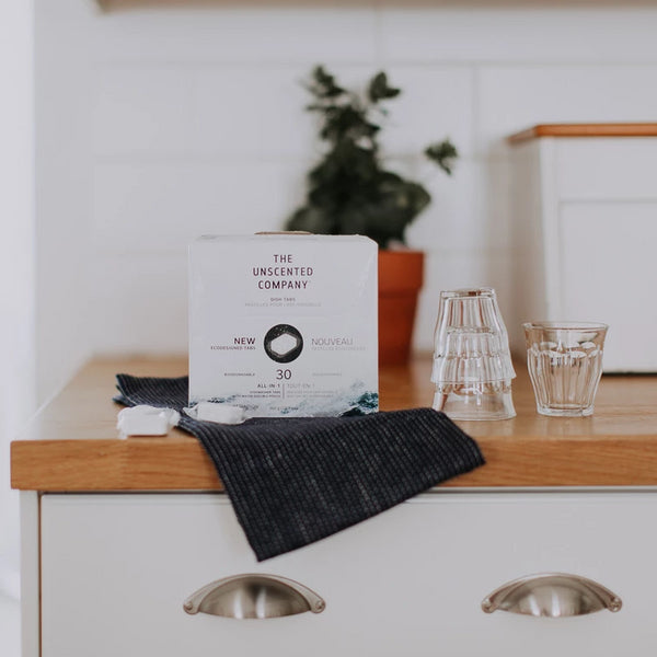 The Unscented Company - Biodegradable 30 Pack Dish Tabs Eco-Friendly Plant Based Cleaning Products All Things Being Eco
