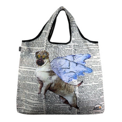 YaYbag Novelty - Reusable Shopping Bag All Things Being Eco Chilliwack Zero Waste Living Store Flying Pug