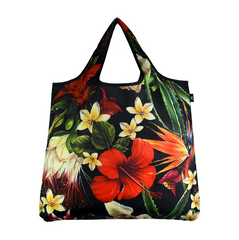 YaYbag Novelty - Reusable Shopping Bag All Things Being Eco Chilliwack Zero Waste Living Store Tropical Flowers