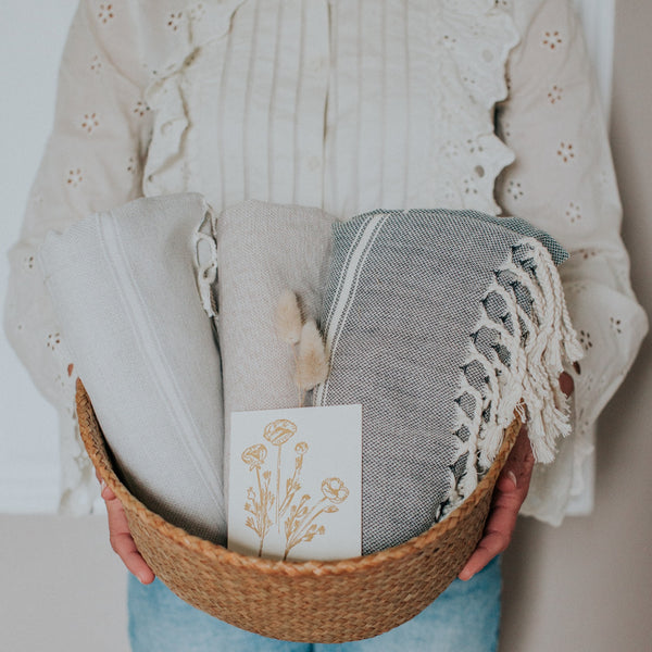 At-Home Bundle | Belly Basket + Turkish Towels