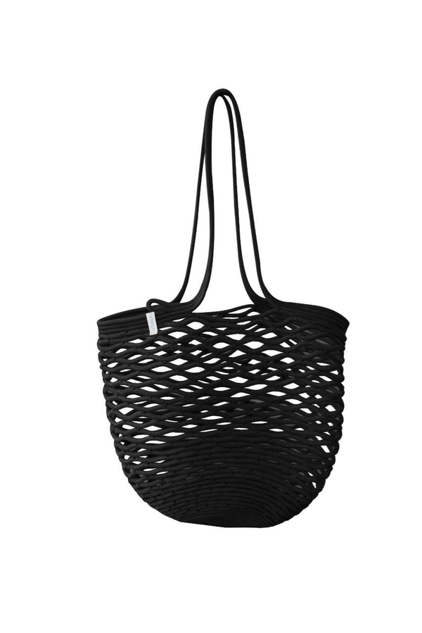 Luna Cotton Rope Tote | Black