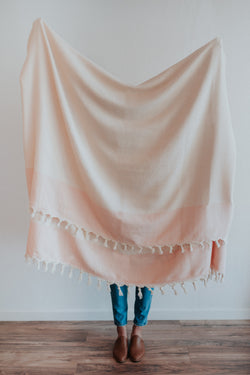 Freya Throw | Blush