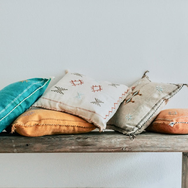 Our Sabra Pillows are perfect for adding a refined boho vibe to any space, choose from soft, subtle neutrals, bright, vibrant colors or mix and match a few for an eclectic feel.