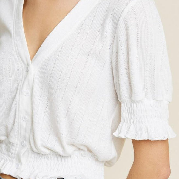 Fun-White-Blouse-Style-With-Denim-Button-Up