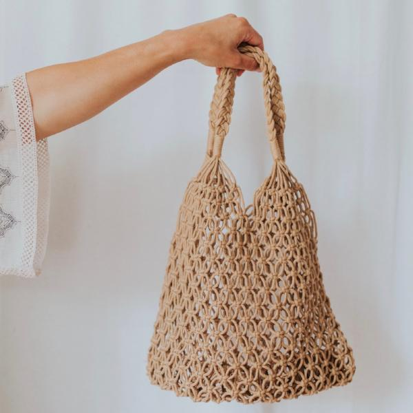 Hand-Knotted Bag | Nutmeg