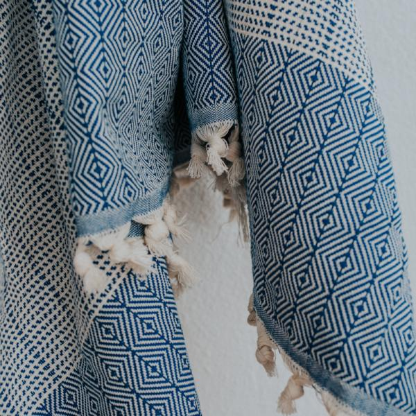 Crafted from pure cotton, our Turkish Throws are made for those at-home days.