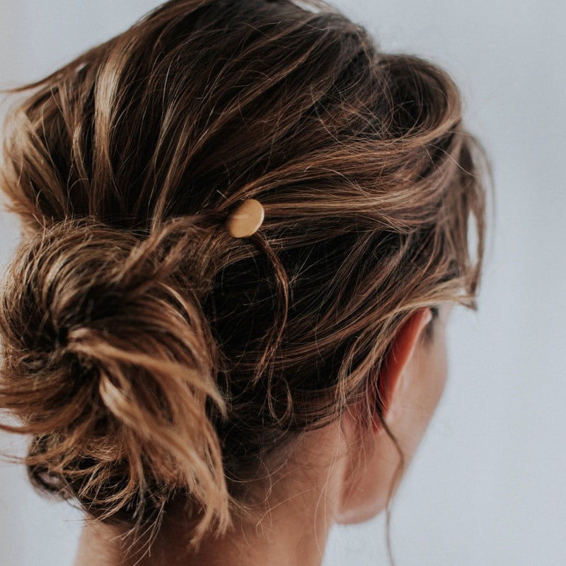 Brass Dot Hair Stick