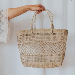Straw Handle Bag | Natural
