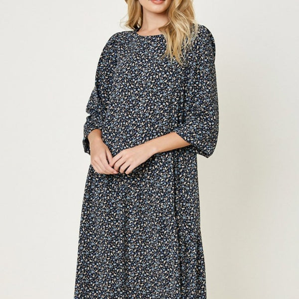 Cute-Floral-Dress-Midi-Spring-Summer-Wine-Country-Bon-Ton-Studio