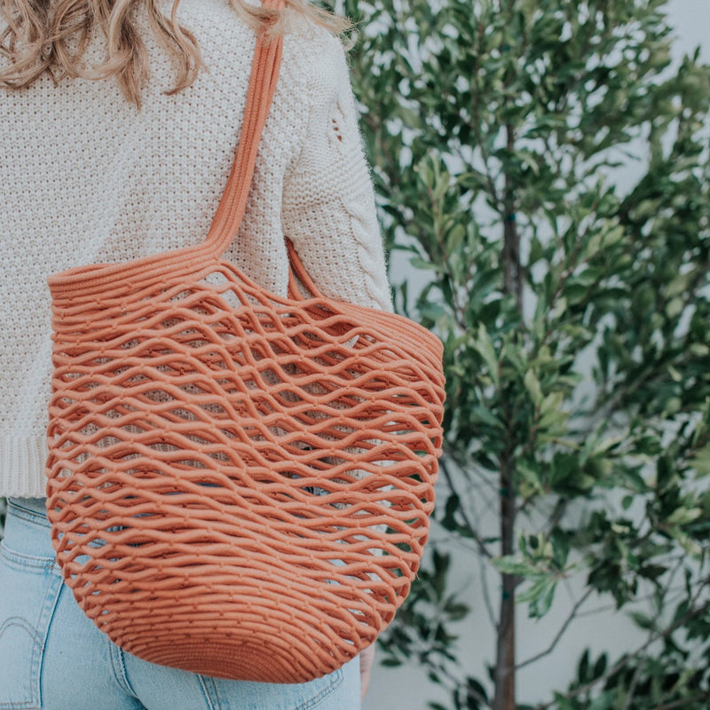 Luna Cotton Rope Tote | Nutmeg
