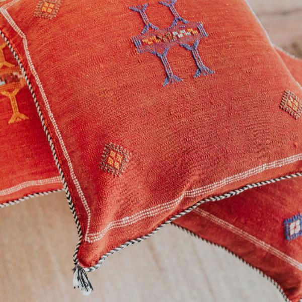 Sabra Pillow | Burnt Red