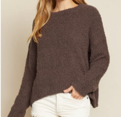 Knit Pullover | Chocolate