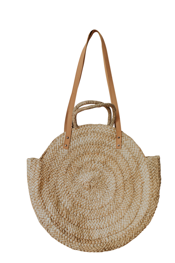 Evie Straw Tote