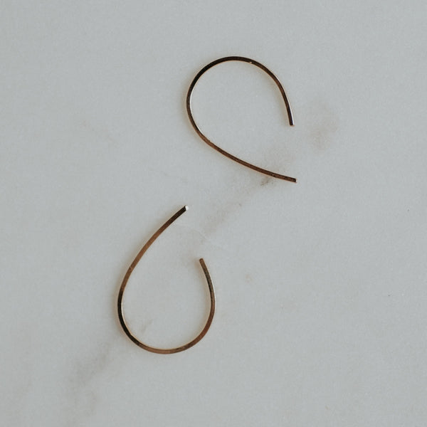 Gold-Filled Tear Mini Hoops