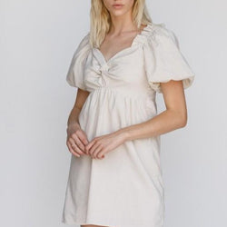Twisted-Mini-Dress-Ivory-Bon-Ton-Studio
