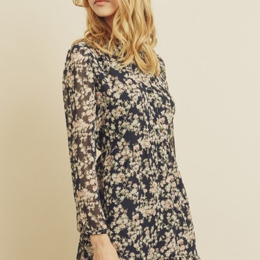 Floral-Pleated-Dress-Bon-Ton-Studio-Long-Sleeve-Cute