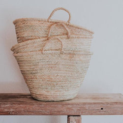 Straw Market Tote | Straw Handle