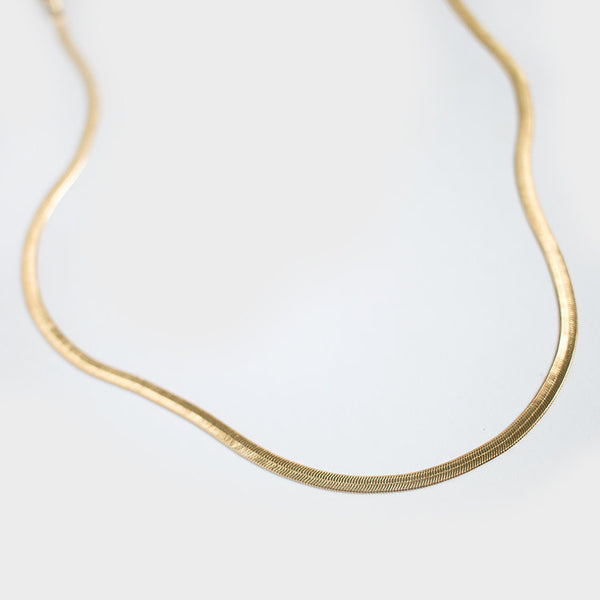 Gold filled chain necklace