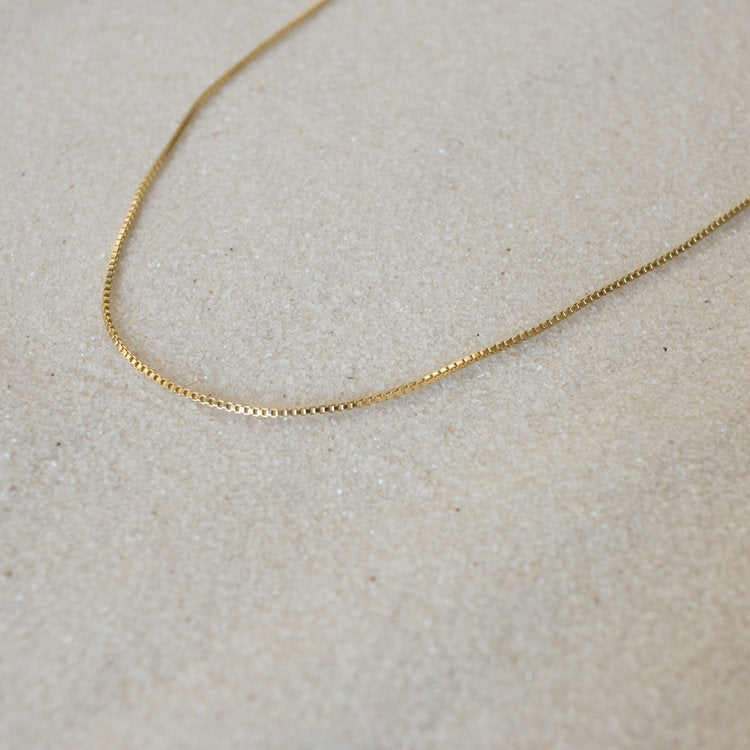 Gold filled box chain necklace