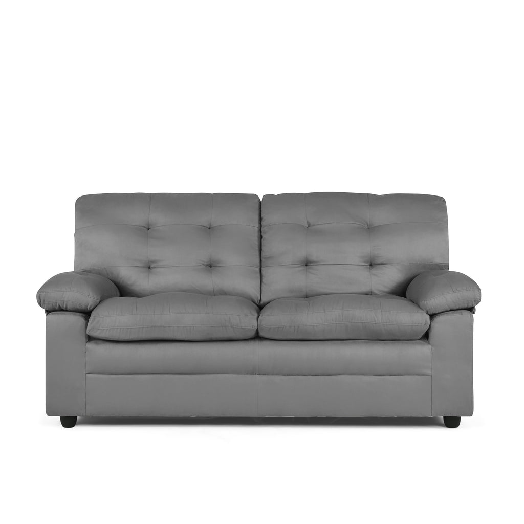Sofas Black Mainstays Buchannan Upholstered Sofa by Mainstays