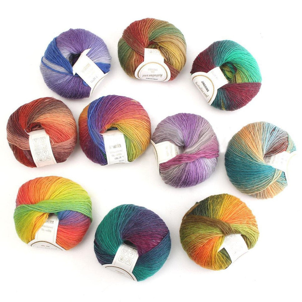Colorful Soft Baby Acrylic  Wool Crochet Yarn For Knitting Accessories