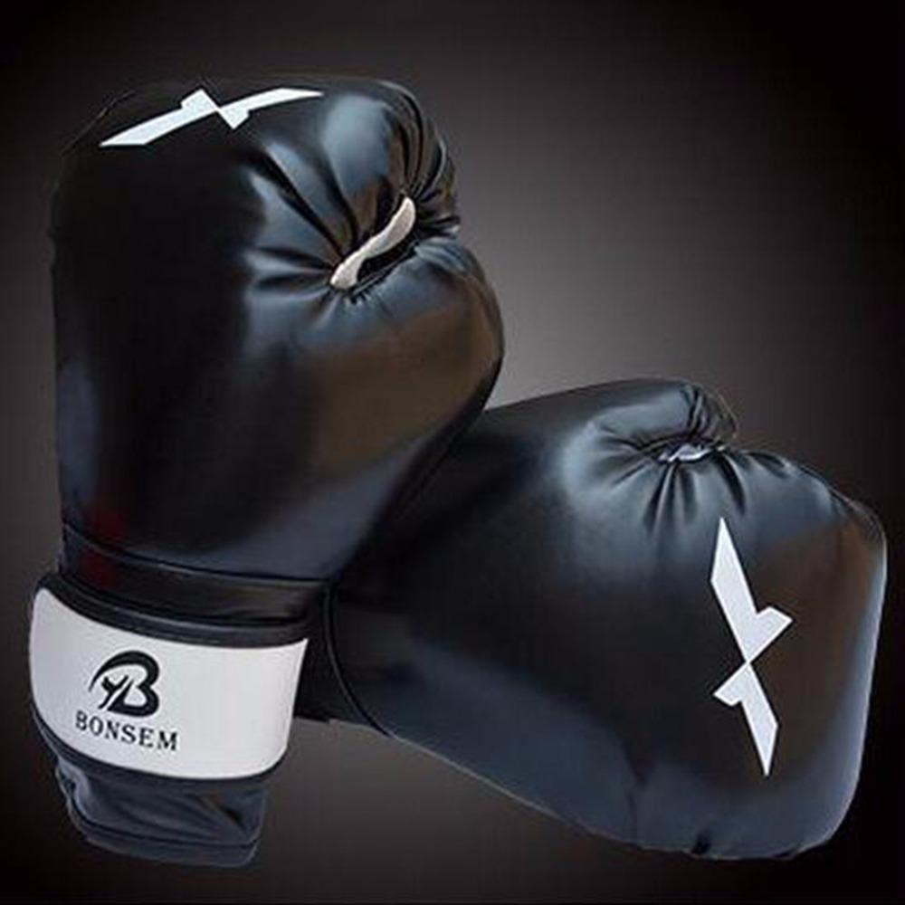 Black Boxing Gloves Fighting Hand Protector Mitts