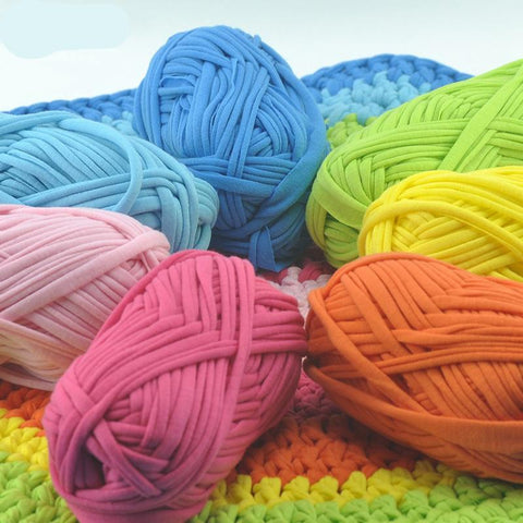 Candy-colored Cloth Yarn Ribbon  for knitting or Crochet