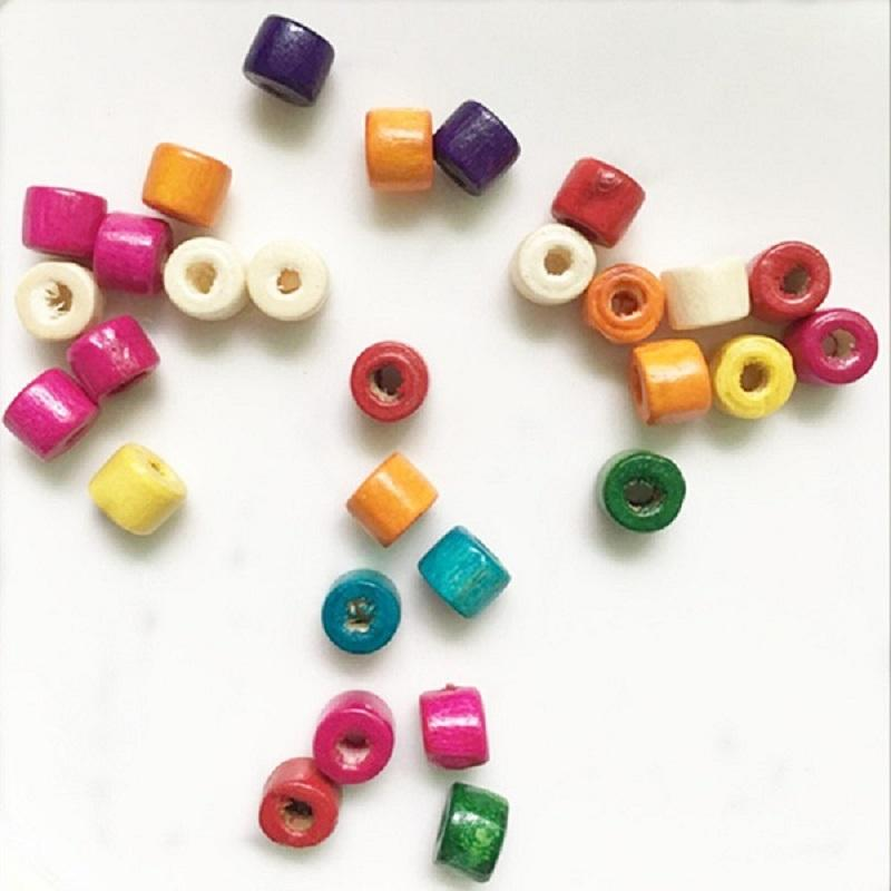 Oval Wooden Beads  100pcs Loose Beads for Jewelry Making