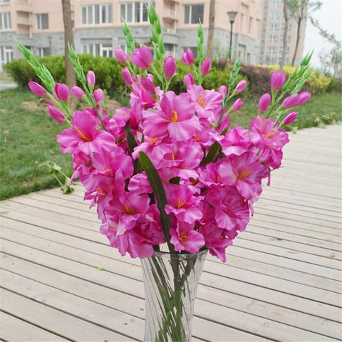 Single Stem Gladiolus Artificial Flowers for Wedding  10 pieces