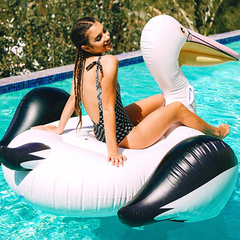 Swimming Rings 150 Giant Swan Inflatable Pool Float Water Ring