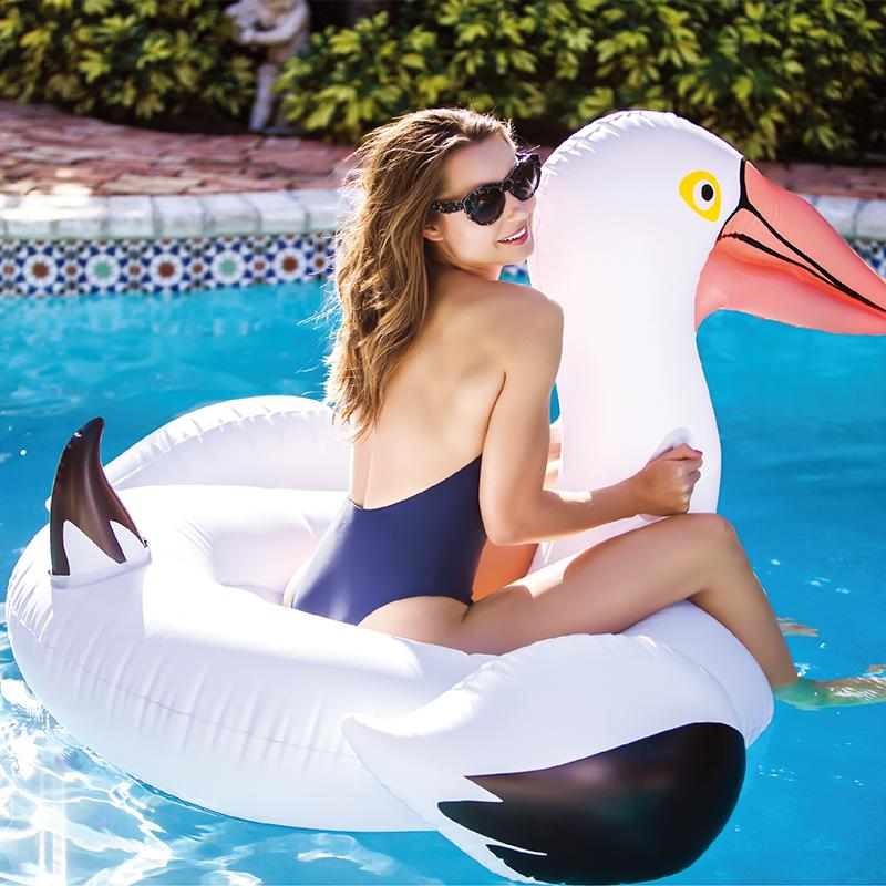 Giant Swan Inflatable Pool Float Water Ring