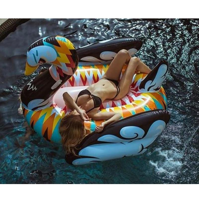 Pool Rafts & Inflatable Ride-ons Giant Colorful Swan Inflatable Pool Float