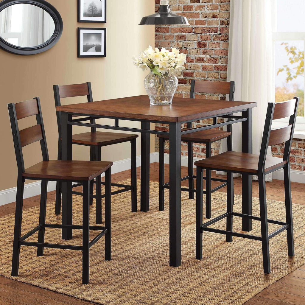 Dining Room Sets Better Homes & Gardens 5-Piece Counter Height Dining Set Vintage Oak