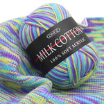 Worsted Blended Knitting Yarn Colorful Fine Dye