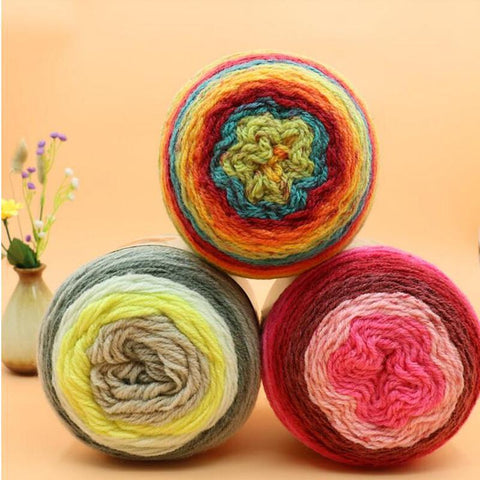 Blended Wool Yarn For Knitting Crochet 200 grams per ball