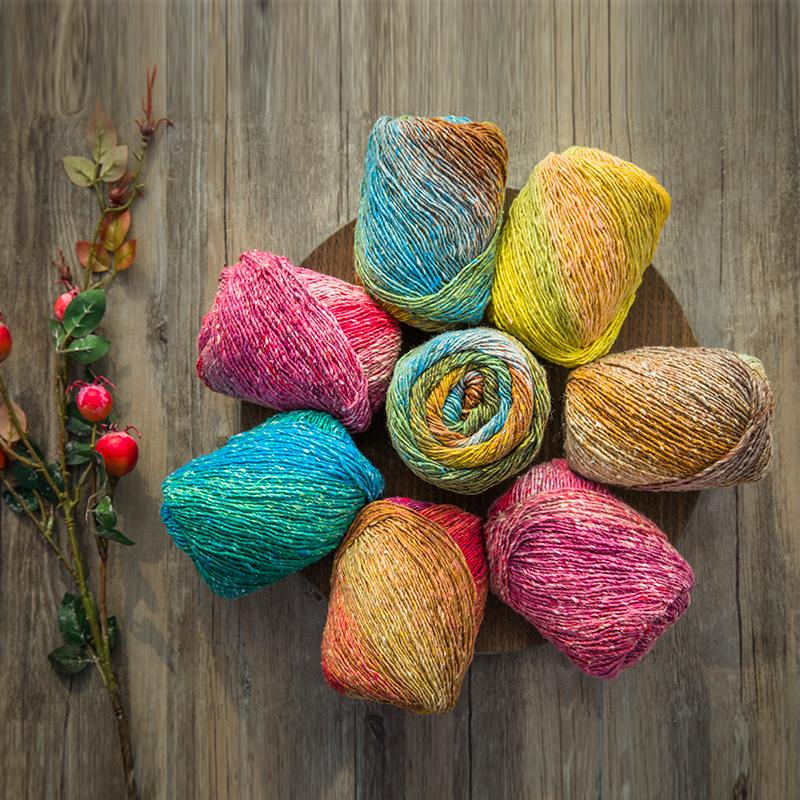 High Quality Space Dye Yarn for Knitting  Crochet Thread 200g