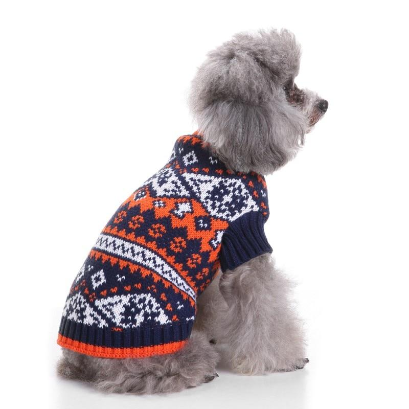 Pet Holiday Season Fair Isle  Dog Sweater