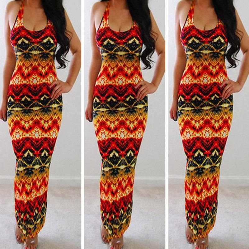 Dresses S Fancy Pattern Evening Summer Dress