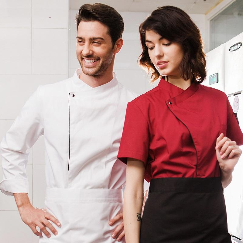 Chef Uniform Short Sleeve Cook Restaurant Wear