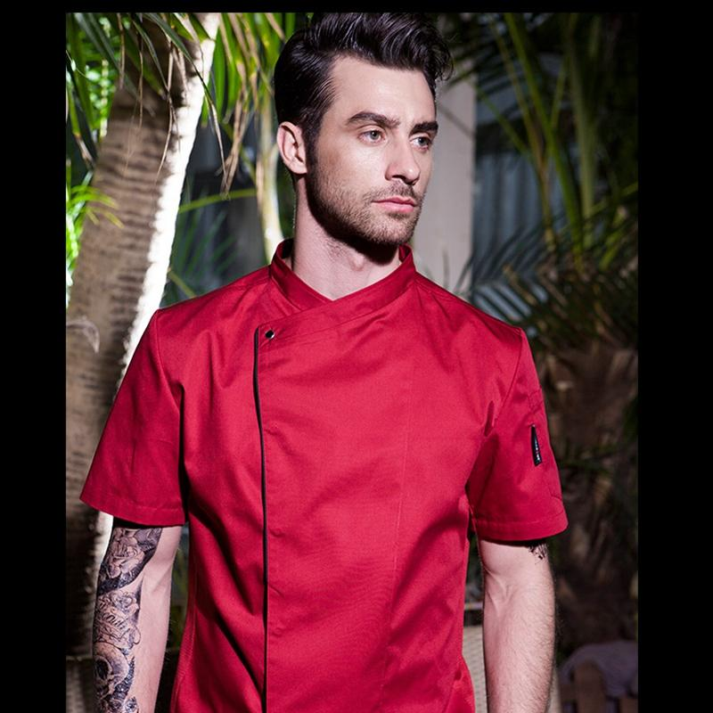 white long sleeve / S Chef Uniform Short Sleeve Cook Restaurant Wear