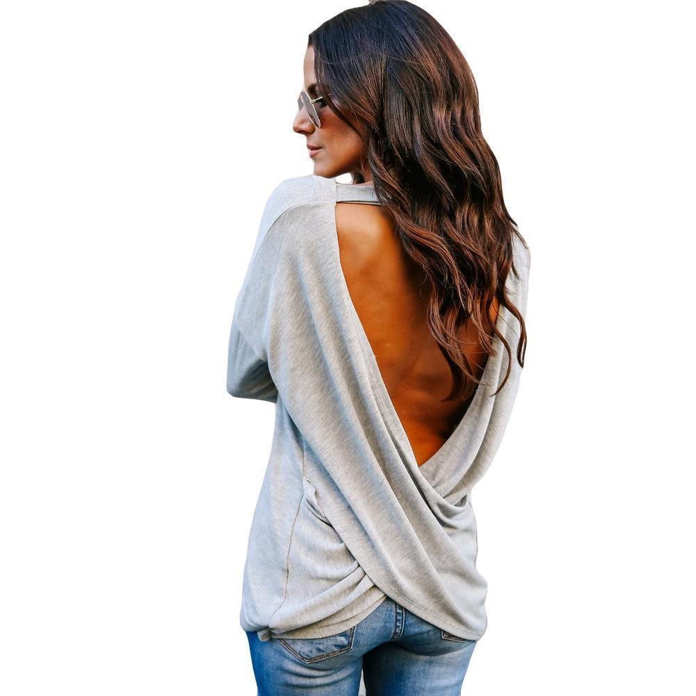 30feaafce7b Backless V Neck Irregular Blouse Tunic Top – Inspirational Clothing ...